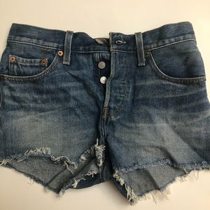 Levi's501 Straight Leg Button Fly Jean shorts